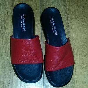 Gorgeous A. Giannetti. Leather slip on sandals